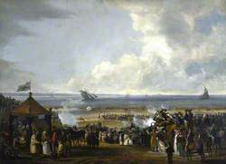 George IV (1762–1830), Reigned as Regent (1811–1820), and King (1820–1830), at a Military Review on Portobello Sands, 23 August 1822