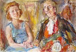 Douglas Douglas-Hamilton (1903–1973), 14th Duke of Hamilton and 11th Duke of Brandon, Aviator, with his Wife Elizabeth Ivy Percy, Duchess of Hamilton (b.1916)