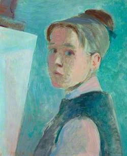 Cordelia Oliver (1923–2009), Artist, Self Portrait