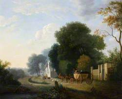 Landscape with Carriage and Horses