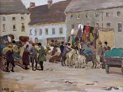 Irish Market Scene