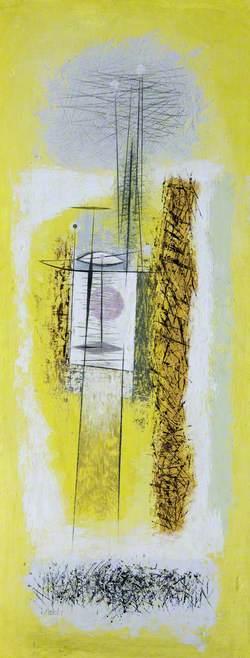 Crane Yellow and White