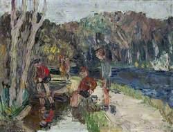 Children Playing on Lagan