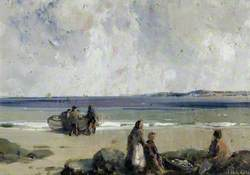 Foreshore, Boat and Figures