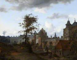 A View of the Palace of the Dukes of Brabant, Brussels