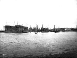 View of South Yard and Engine Works across Abercorn Basin from south