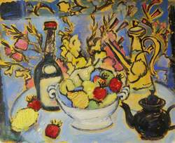 Still Life with a Black Bottle