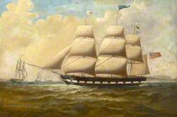 The Barque 'Alfred' Offshore