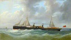 The Iron Paddle Steamer 'Princess of Wales' on Passage