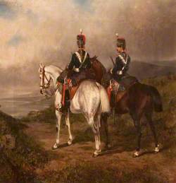 Two Mounted Hussars