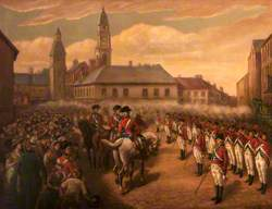 The Lisburn and Lambeg Volunteers Firing a 'Feu de Joie' in Honour of the Dungannon Convention, 1782