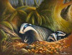 Badgers – Mother with Cubs