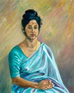 Ester Thuriappah (Indian Girl Wearing a Sari)