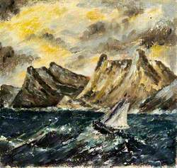 Yacht and Stormy Sea