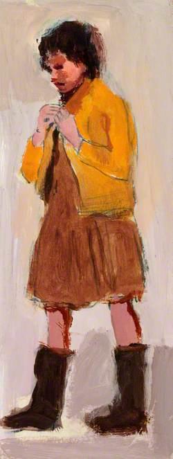 Girl, Gipsy Camp near Penarth