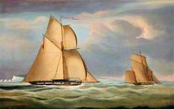 Revenue Cutter 'Stag' Chasing a Smuggler, off Cowes