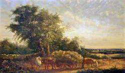 Landscape with Horses and a Cart