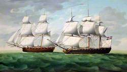 Liverpool Privateer Returning with a Prize