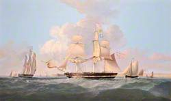 'Combatant' Entering the Mersey