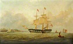 'West Derby' off Egremont, Entering the Mersey