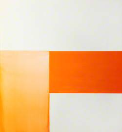 Exposed Painting, Cadmium Orange on White