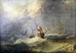 Fishing Boat in a Heavy Sea