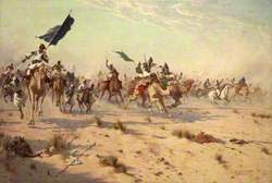 The Flight of the Khalifa after His Defeat at the Battle of Omdurman, 1898