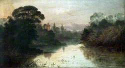 Landscape: Lake Scene with a Church