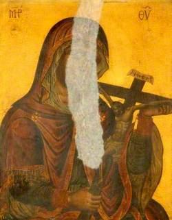 The Virgin Holding a Crucifix