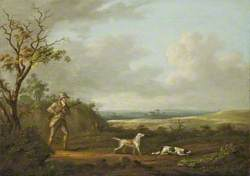 A Gentleman Out Shooting with Two Setters