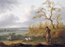 A Gentleman Shooting Partridges over Two Pointers