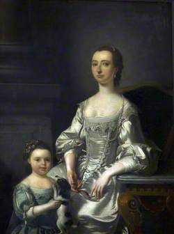Mrs Thomas Johnson and Her Daughter