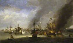 Destruction of the 'Soleil Royal' at the Battle of La Hogue, 23 May 1692