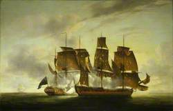 The Capture of the 'Amazone' by HMS 'Santa Margarita', 29 July 1782