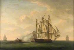 End of the Action between HMS 'Magicienne' and La 'Sibylle', 2 January 1783