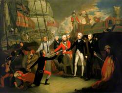 Nelson Receiving the Surrender of the 'San Josef' at the Battle of Cape St Vincent, 14 February 1797
