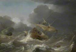 Dutch Ships in a Gale