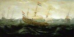 Dutch Ships in a Rough Sea