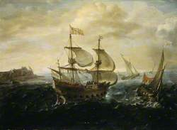 A Dutch Ship Running out of a Harbour