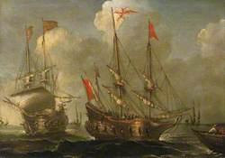 Spanish Ships at Anchor