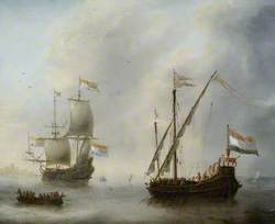 A Galley and a Man-of-War