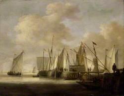 Dutch Vessels at a Pier