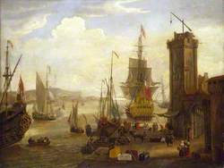 Dock Scene at a British Port