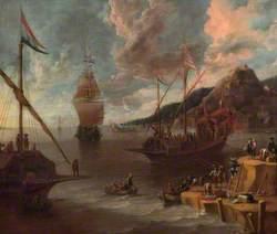 A Mediterranean Harbour Scene