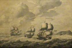 Dutch Ships Driving before a Gale