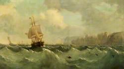 A Ship off a High Coast