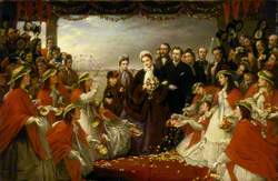 The Landing of HRH the Princess Alexandra at Gravesend, March 7 1863