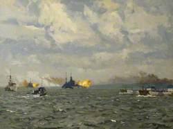 HMS 'Rodney' and 'Warspite' Firing on Shore Targets, 6 June 1944