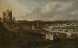 View from One Tree Hill: The Queen's House and the Royal Observatory, Greenwich
