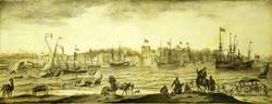 A Dutch Settlement in India, Probably Surat